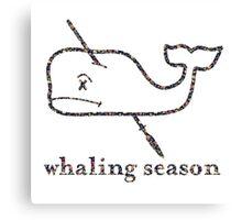 Whaling Season: Vineyard Vines Sucks Floral Logo Canvas Print