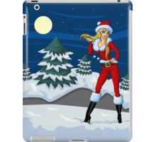 Moon light Santa Girl iPad Case/Skin