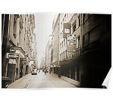 City Street Lomo Argentina Poster