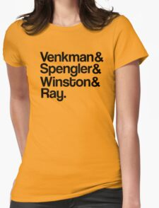 Venkman & Spengler & Winston & Ray Womens Fitted T-Shirt