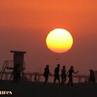 Huntington Beach Sunset by Melissa  Carroll
