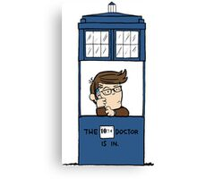 Doctor Who in Peanuts  Canvas Print