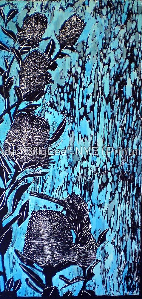 """Birdsong  - Woodcut by Belinda """"BillyLee"""" NYE (Printmaker)"""