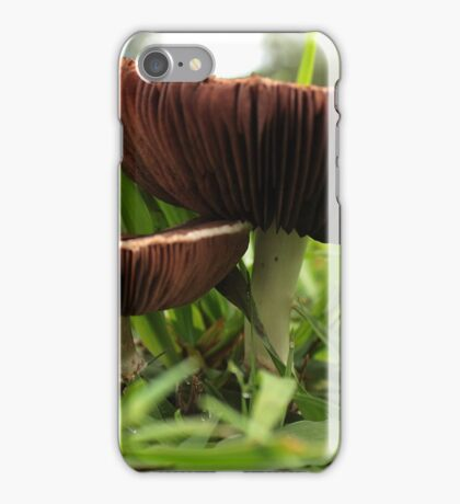 Two Mushrooms on the Cricket Pitch iPhone Case/Skin