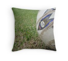 Soccer Ball's View Throw Pillow