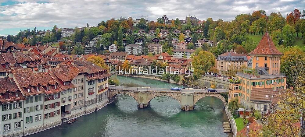 Aare Panorama from Nydeggbrücke 2 by kuntaldaftary