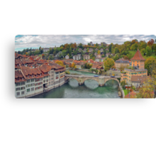 Aare Panorama from Nydeggbrücke 2 Canvas Print