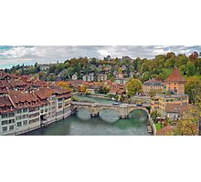 Aare Panorama from Nydeggbrücke 2 Photographic Print
