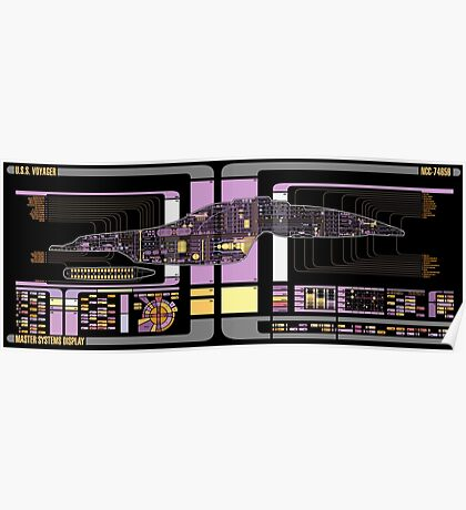 Intrepid Class USS Voyager Highly Detailed Schematic Poster