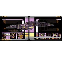Intrepid Class USS Voyager Highly Detailed Schematic Photographic Print