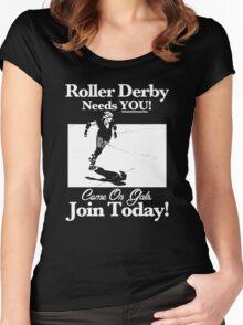Roller Derby Recruiter Women's Fitted Scoop T-Shirt