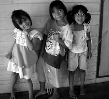 Happy Thai Children by Vee T