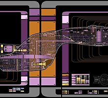 Galaxy Class USS Enterprise Highly Detailed Schematic by Bmused55
