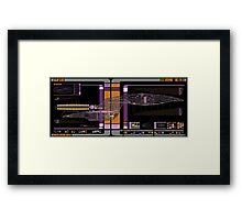 Galaxy Class USS Enterprise Highly Detailed Schematic Framed Print