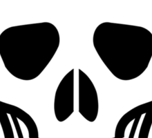 Pirate Skull with crossbones. Lethal danger and poison. Sticker