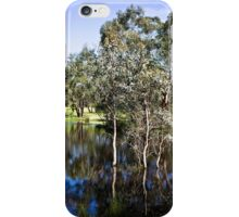Trees reflected at Dunkeld Community Park, Victoria iPhone Case/Skin