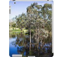 Trees reflected at Dunkeld Community Park, Victoria iPad Case/Skin