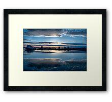 Dawn Harbour Framed Print