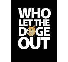 Who let the Doge out ! Photographic Print