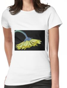 Yellow Gerbera Daisy Womens Fitted T-Shirt