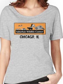 Suburban Wildlife Control - Chicago, IL tee - Orange box version Women's Relaxed Fit T-Shirt