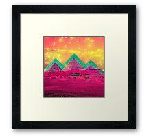 Trippy Pyramids Framed Print