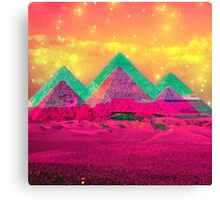 Trippy Pyramids Canvas Print