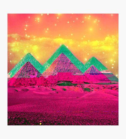 Trippy Pyramids Photographic Print