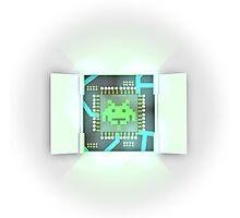 Powered By Space Invaders Photographic Print