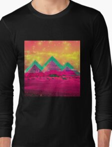 Trippy Pyramids Long Sleeve T-Shirt