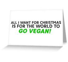 Vegan Christmas Greeting Card
