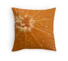 Orange sun burst Throw Pillow