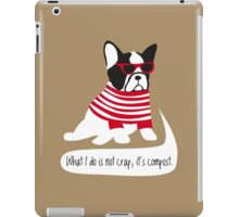 Hipster French bulldog iPad Case/Skin