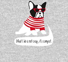 Hipster French bulldog Unisex T-Shirt