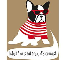 Hipster French bulldog Photographic Print
