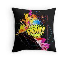 "Comic themed ""pow"" Throw Pillow"