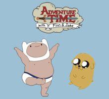 Adventure Time Baby Finn and Jake by Luke Heathcote