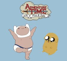 Adventure Time Baby Finn and Jake One Piece - Short Sleeve
