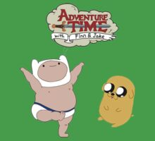 Adventure Time Baby Finn and Jake Baby Tee