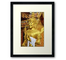Buddhist Temple Guardian  Framed Print