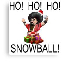 HO! HO! HO! - SNOWBALL! Canvas Print