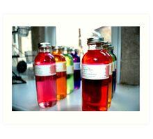 Colourful Bottles Art Print