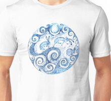 The Hares Jumped over the waves- Blue Unisex T-Shirt