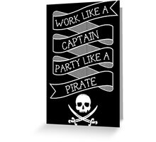 Party like a Pirate Greeting Card