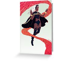 Storm Inferno Greeting Card