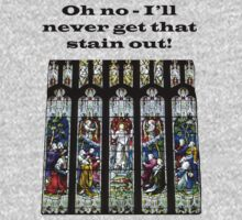 Oh no - I'll never get that stain out! (Black print) by Tom Gomez