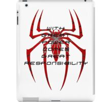 Spiderman- with great power comes great responsibility iPad Case/Skin