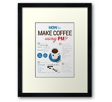How to make coffee using project management? Vertical poster Framed Print