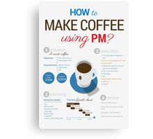 How to make coffee using project management? Vertical poster Canvas Print