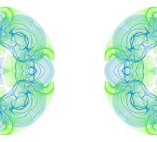 Blue and Green Mug3 by TonyaSanders